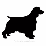 Spaniel dog image for house sign