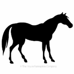 Horse standing image for house sign