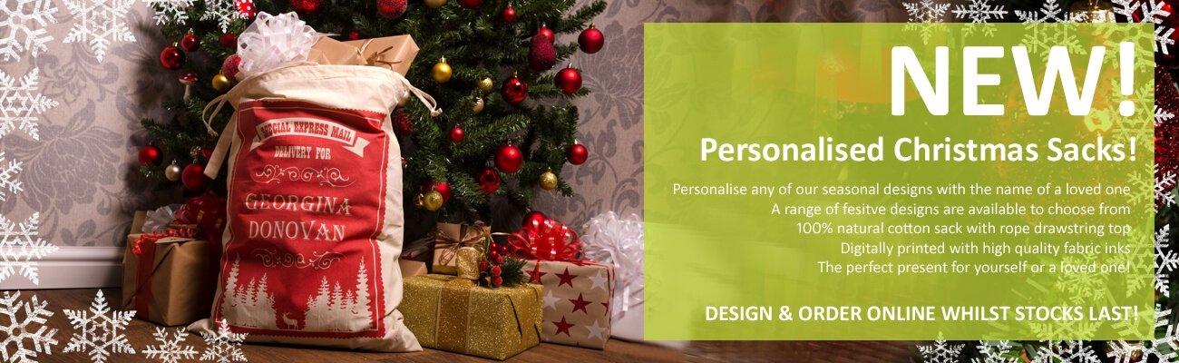 Personalised Christmas Sacks - click to shop