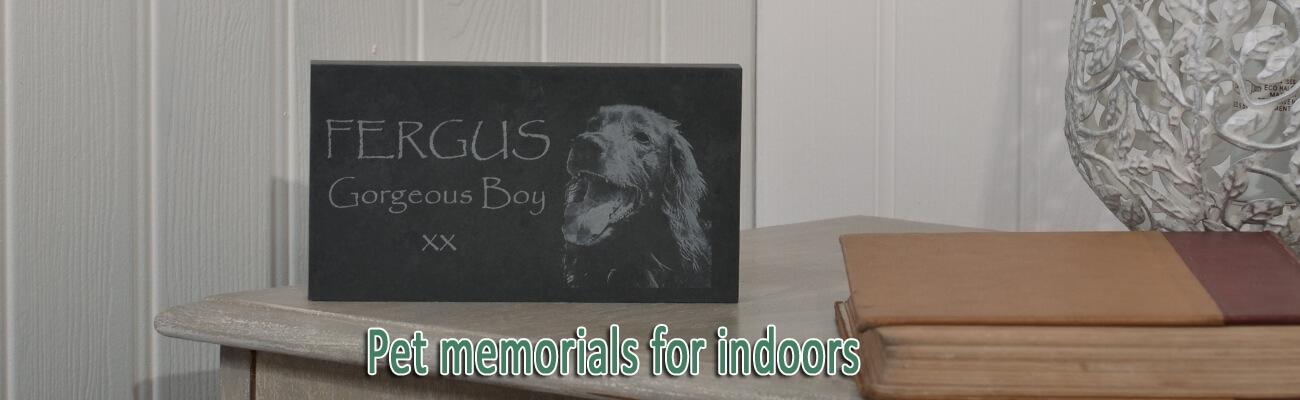 Pet memorials for indoors