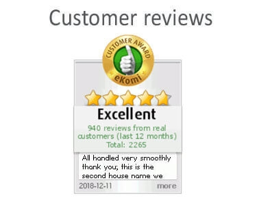 Customer reviews of house signs