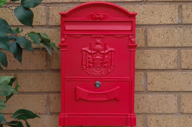 Coloured letterboxes
