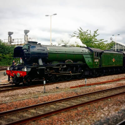 The Flying Scotsman is one of 5 of the most famous steam engines in the UK. Image by Joseph Wellsteed
