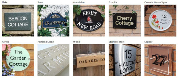 Materials used to make house signs