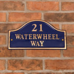 House signs to improve your Kerb appeal - Blue Brass Bridge House Sign