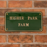 House signs to improve your Kerb appeal - Green Brass Rectangular house sign