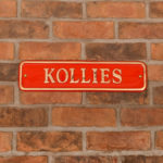 House signs to improve your Kerb appeal - Red Brass Rectangular Sign