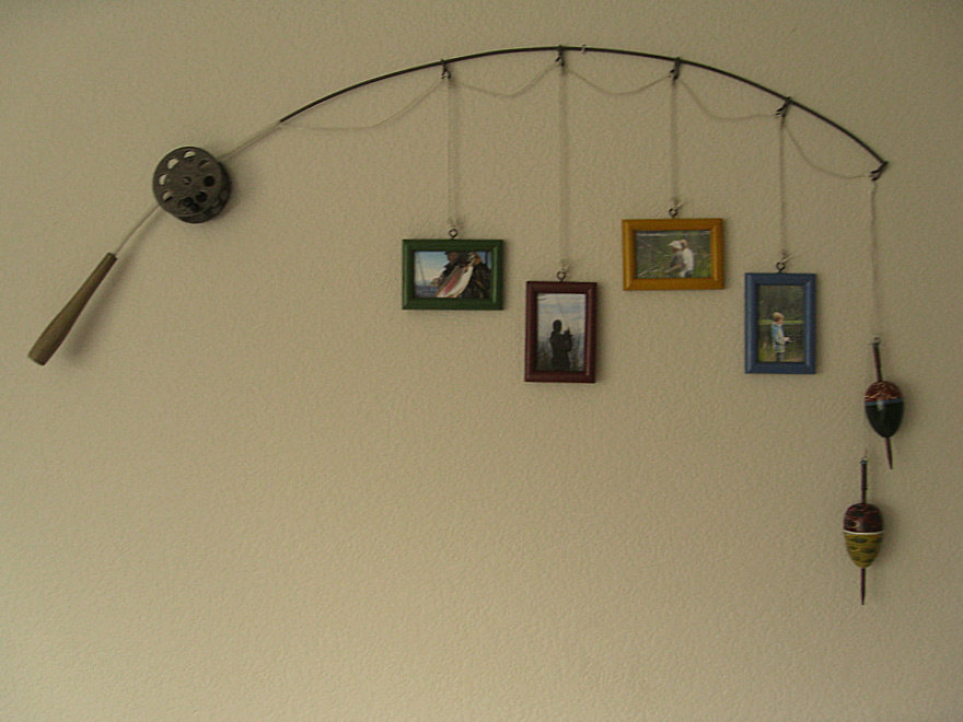 Fishing Pole Picture Frame Wall Art For Your Man Cave