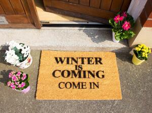 Winter is coming door mat