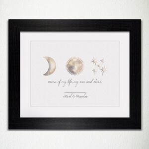 Moon of my life framed print