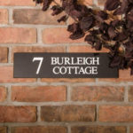 Granite Address House Sign - 7 Burleigh Cottage