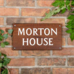 How to change your house name - Iroko Wood House sign