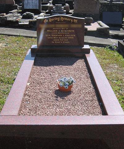 Gravestone Kerbed
