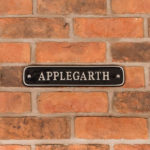 How to change your house name - Aluminium Nameplate