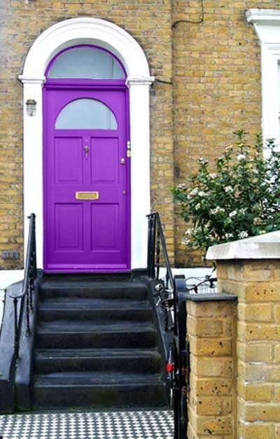 Purple Front Door News From The House Nameplate Company