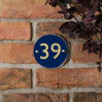 round acrylic house number