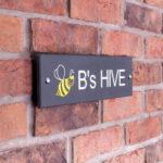 Smooth Slate Bee Sign
