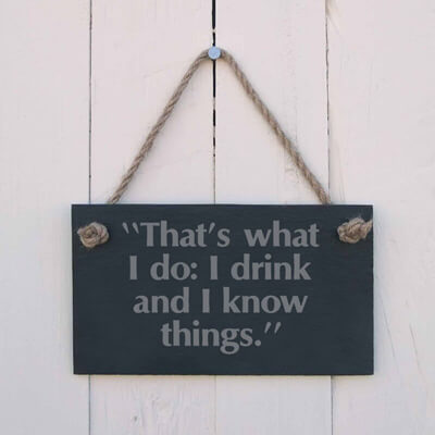 That's what I do, I drink and I know things